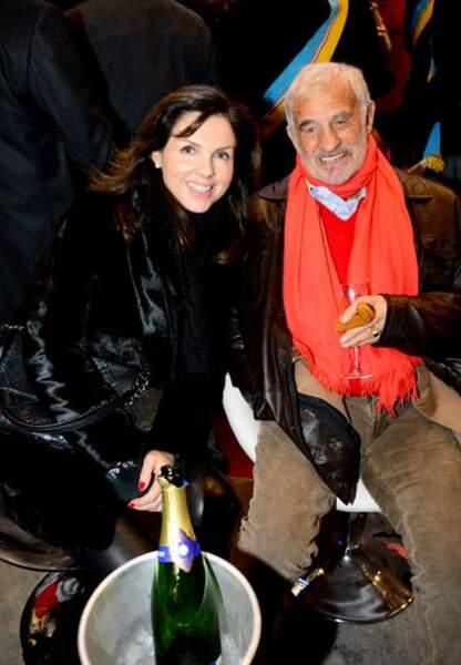 Caroline Barclay et Jean-Paul Belmondo