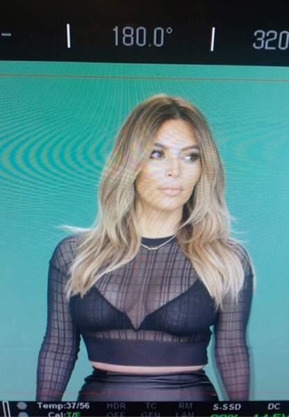 Kim Kardashian au travail