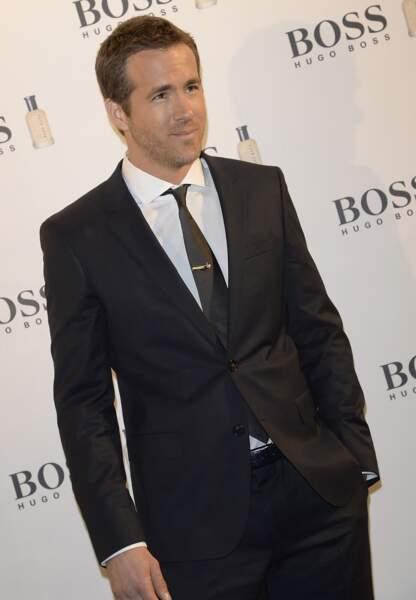 Ryan Reynolds, également égérie Hugo Boss, à un évènement de la marque