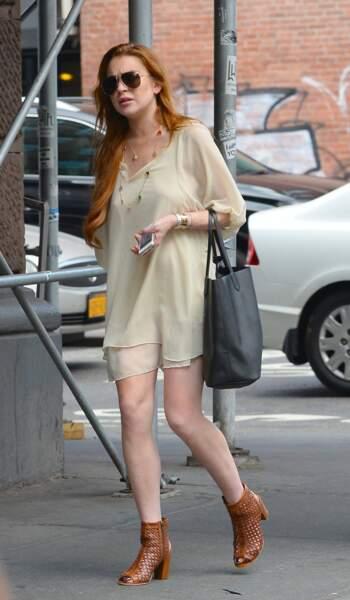 Lindsay Lohan, le poudré lui va bien au teint