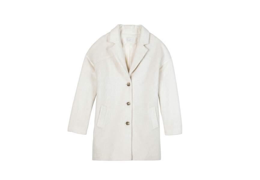 Gemo, Manteau blanc, 69,99€