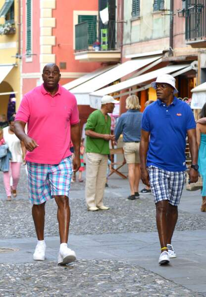 Magic Johnsson et Samuel L Jackson se baladent dans Portofino