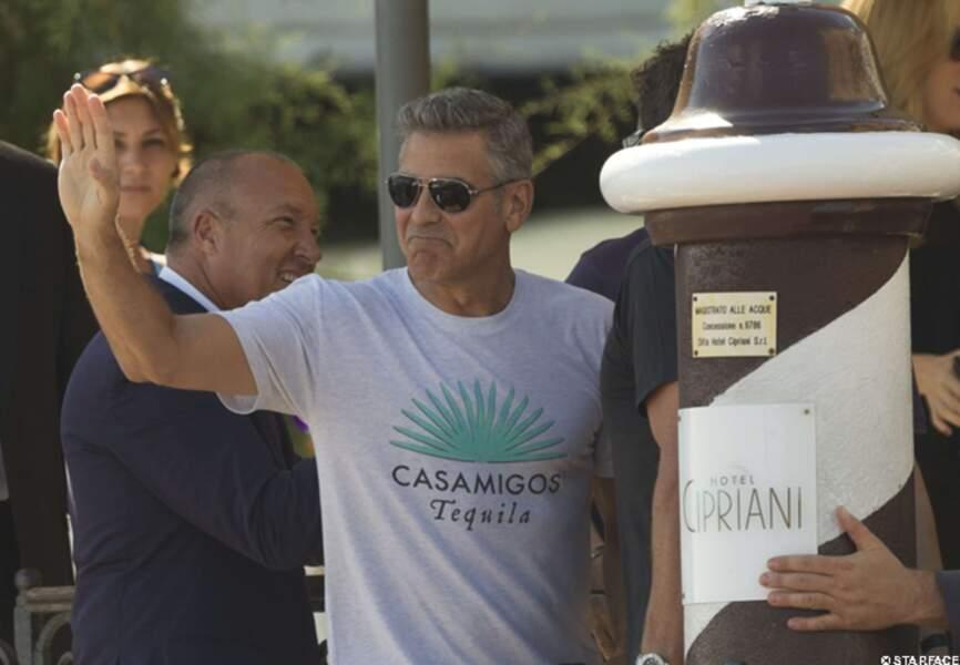 George réside à l'hôtel Cipriani...