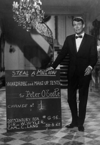Peter O'Toole sur le tournage de Comment voler un millionnaire en 1965