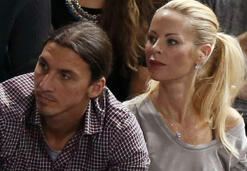 Zlatan et sa femme Helena Seger