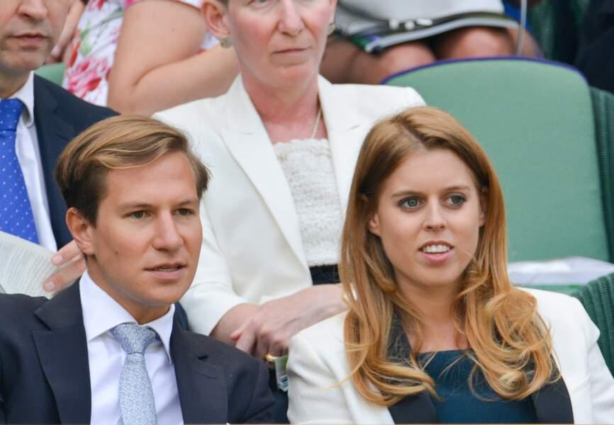 La princesse Beatrice d'York et son ami Dave Clark assistaient aussi au match