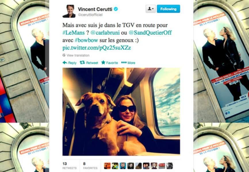 Sandrine Quétier ou le sosie de Carla Bruni pour Vincent Cerruti