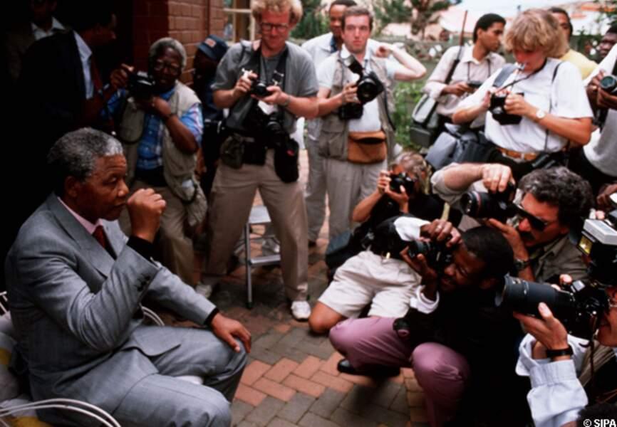 Nelson Mandela et les médias