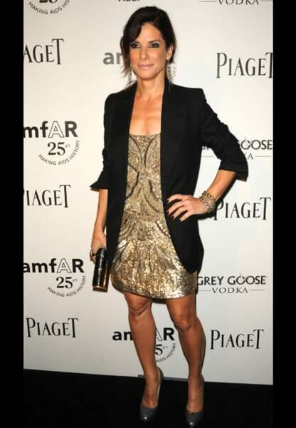 Sandra Bullock lors du Gala de l'amfAr 2011