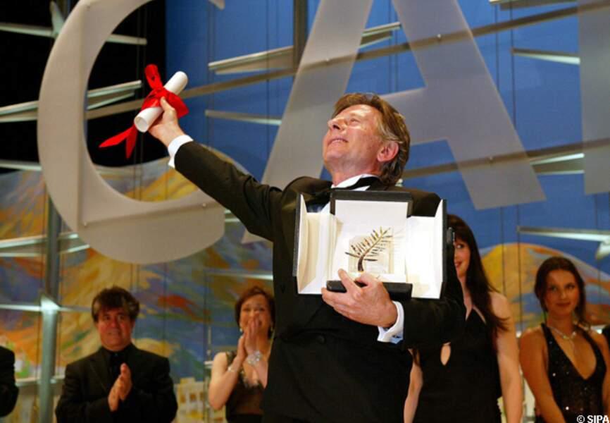 Roman Polanski, palme d'or en 2002 avec Le pianiste