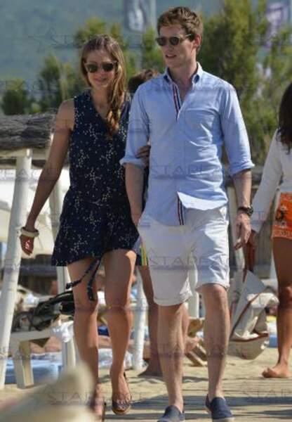 Eddie Redmayne et sa femme à Saint-Tropez