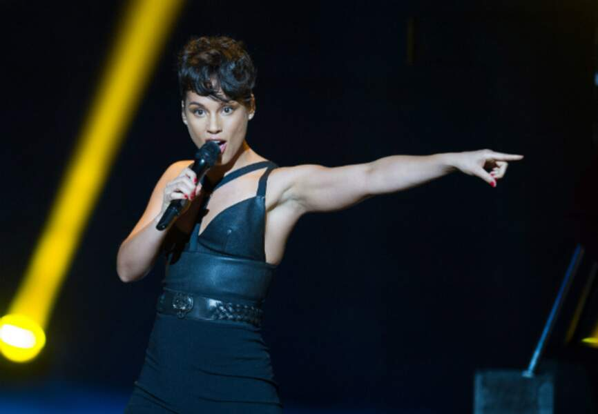 Alicia Keys était une Girl on fire pour son anniversaire. Le public lui a présenté ses voeux