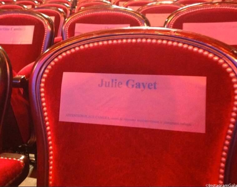 Julie Gayet était très attendue