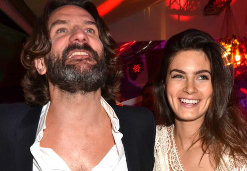 Frédéric Beigbeder et Lara à la Terrazza Martini lors du festival de Cannes 2012