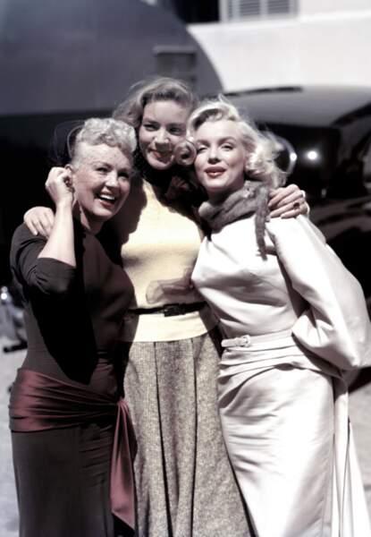 Betty Grable, Lauren Bacall et Marilyn Monroe sur le tournage de Comment épouser un millionnaire en 1953
