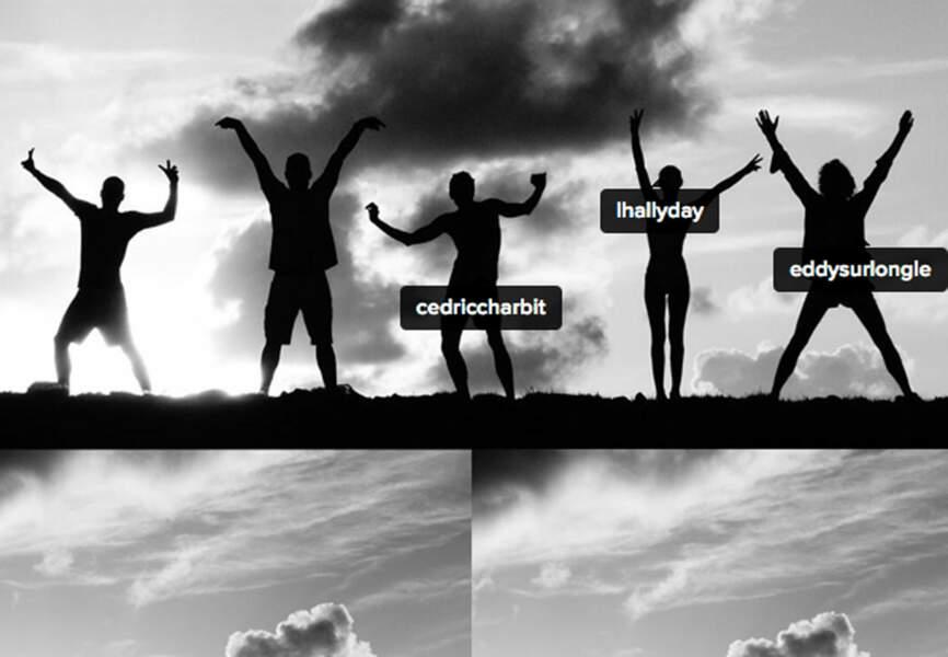 Quand @lhallyday et ses amis improvisent une séance photo