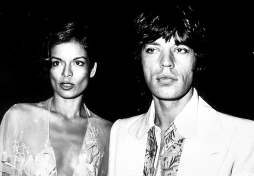 Mick Jagger et sa première femme Bianca