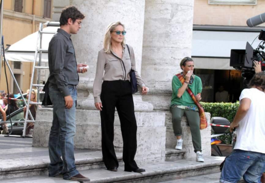 Sharon Stone aux côtés de Riccardo Scamarcio