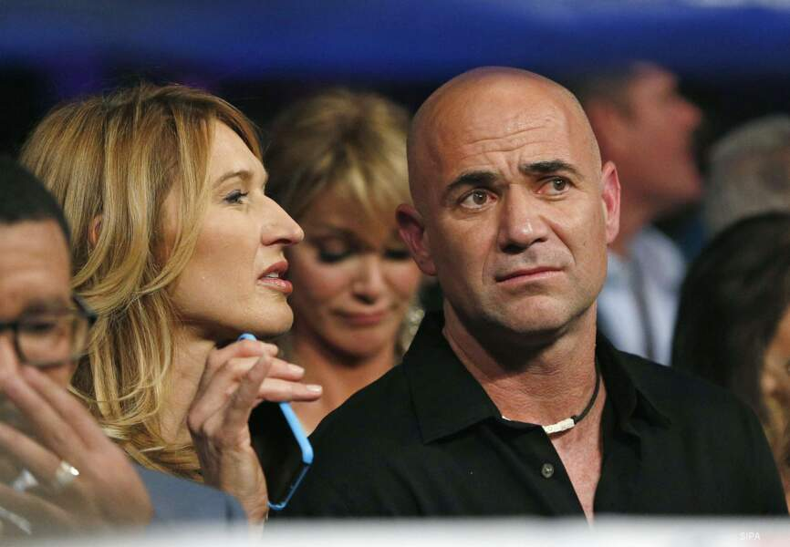 L'ex-tennisman André Agassi et sa compagne Steffi Graf
