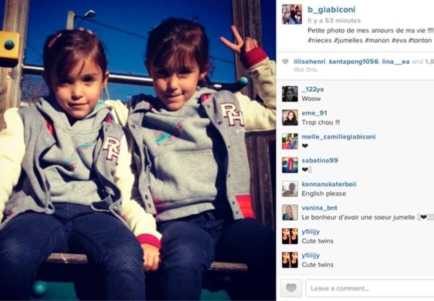 Elles sont très mignonnes les nièces de @B_Giabiconi, n'est-ce pas?