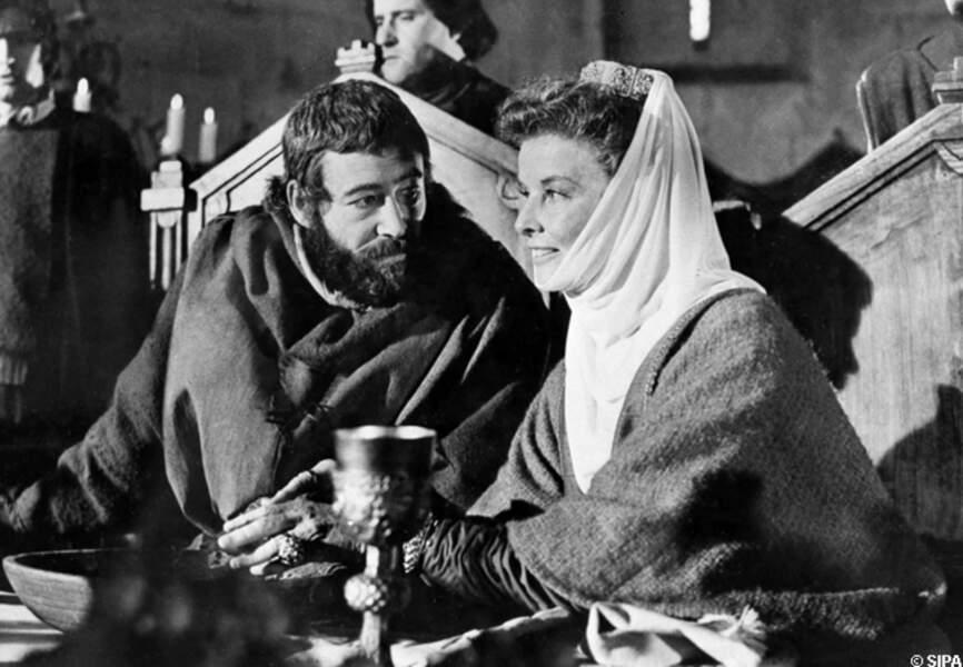 Peter O'Toole et Katharine Hepburn dans Le lion en hiver, en 1968
