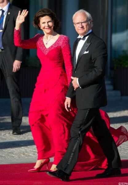 Le roi Carl XVI Gustaf de Suède et la reine Silvia de Suède