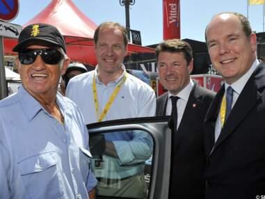 Jean-Paul Belmondo et Albert II sur le Tour de France