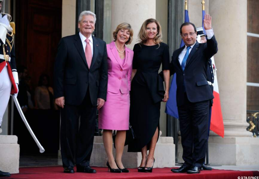 Valérie Trierweiler, François Hollande et le couple présidentiel allemand