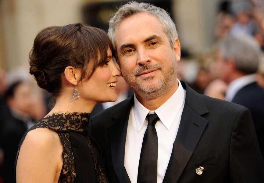 Alfonso Cuaron et Sheherazade Goldsmith s'apprêtent à savourer le carton plein de Gravity