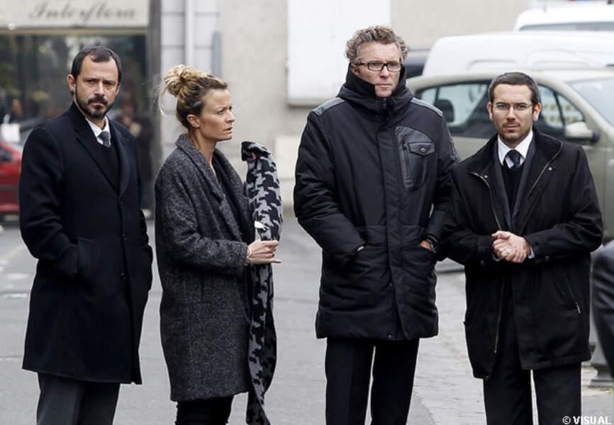 Denis Brogniart à l'enterrement de Gérald Babin