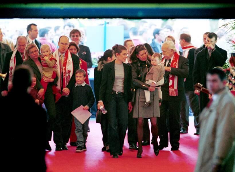 Lors du festival du Cirque de Monaco en janvier 2001