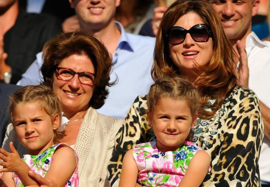 Mirka Federer et ses filles Myla et Charlene
