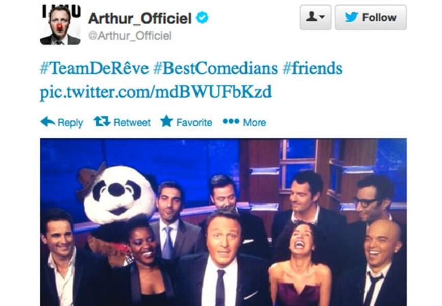 Arthur peut toujours compter sur un solide carnet d'adresses dans ses émissions