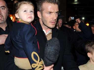David Beckham arrive en famille à la gare du Nord