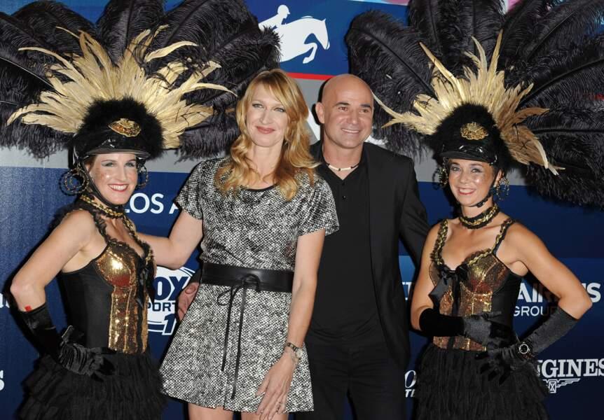 Les anciens tennismen Steffi Graff & André Agassi (ambassadeurs de la marque Longines)