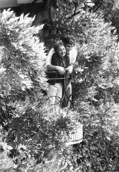 Edith Piaf, avec l'un de ses maris, Théo Sarapo