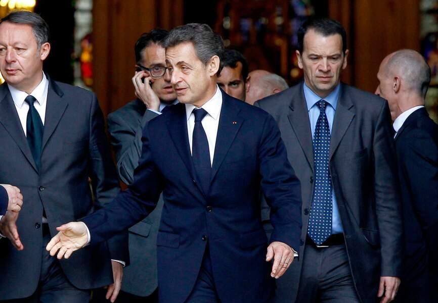 Nicolas Sarkozy faisait lui aussi partie des personnalités présentes