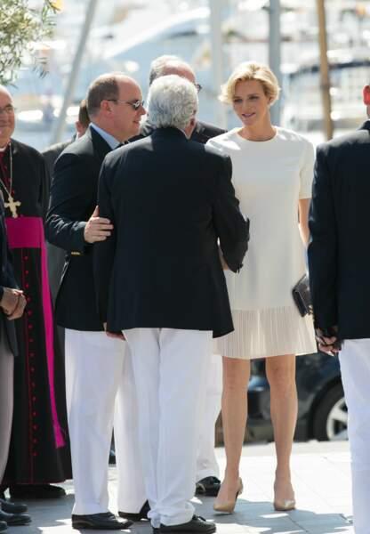 Charlène de Monaco a annoncé sa grossesse le 30 mai dernier (c) Abaca