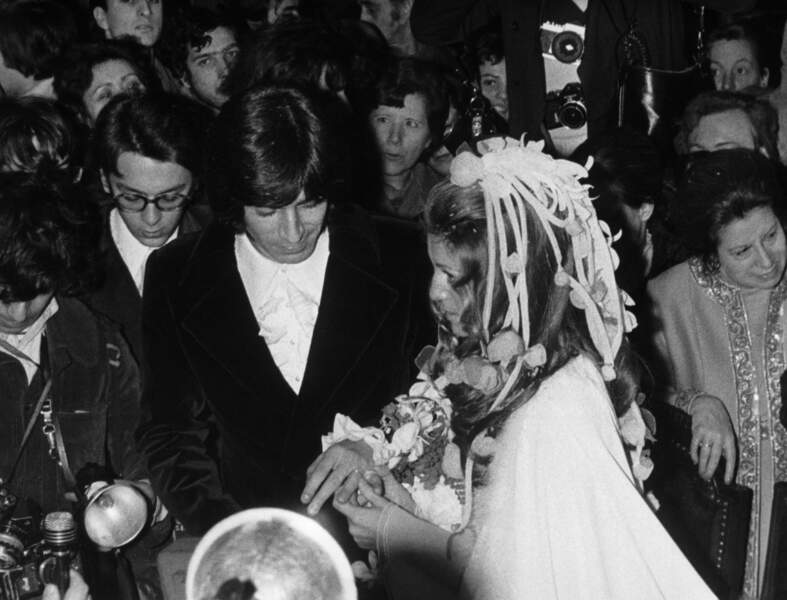 SHEILA SE MARIE AVEC RINGO WILLY CAT EN 1973