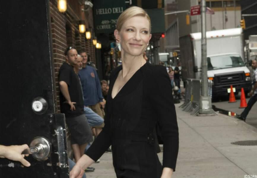 Cate Blanchett avait opté pour un total look noir cette fois