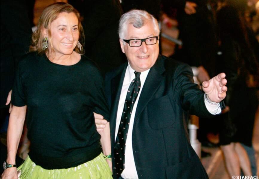 Miuccia Prada et Patrizio Bertelli