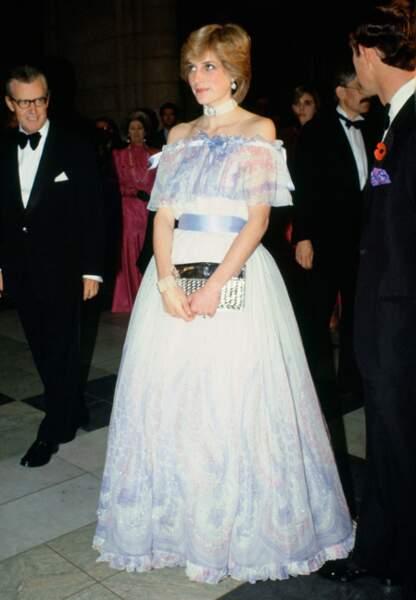 """La """"fairy princess dress"""" que portait Diana juste avant d'annoncer sa première grossesse"""