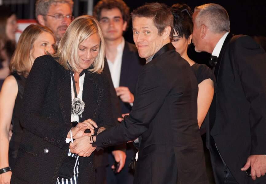 Willem Dafoe lors de l'after party du film Grace de Monaco