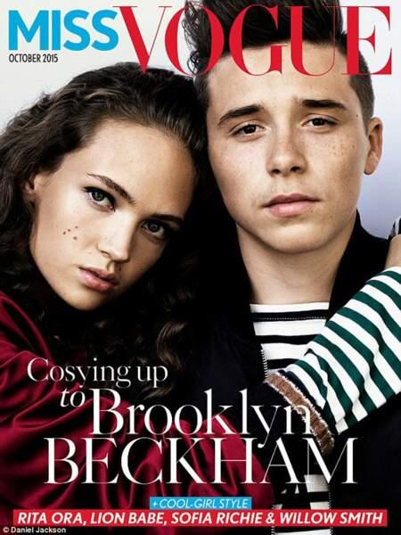 Brooklyn Beckham et une jolie brune pour le Miss Vogue d'octobre 2015