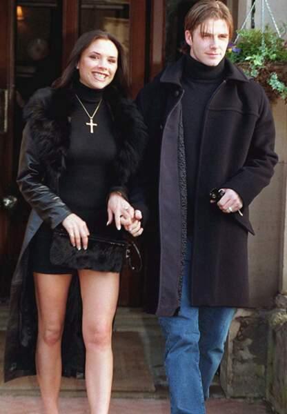 Lors de leurs fiançailles en 1999