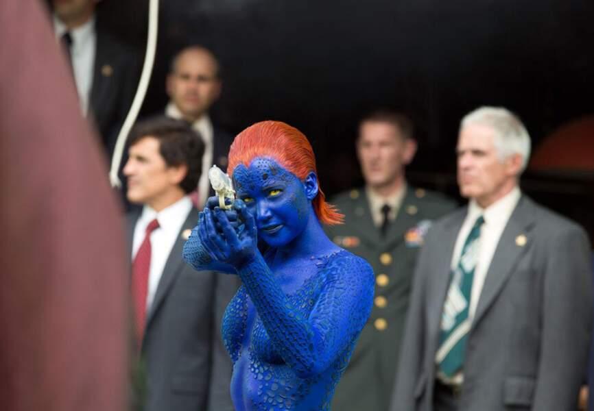 Le vrai visage de Mystique, jouée par Jennifer Lawrence