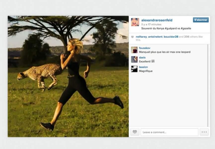 Alexandra Rosenfeld en mode gazelle