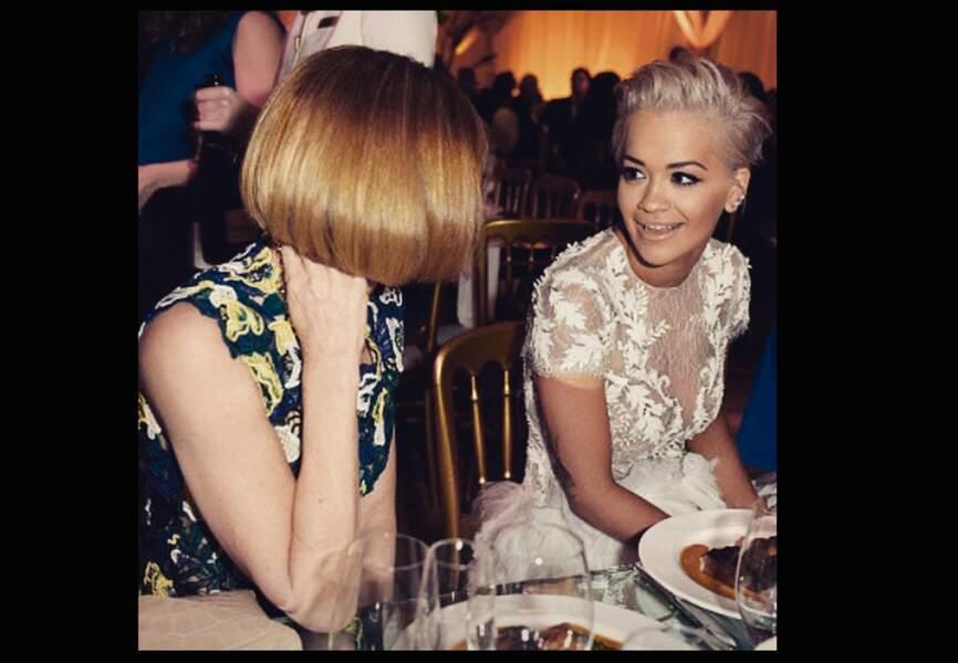 Rita Ora, dîner en compagnie d'Anna Wintour