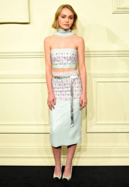 Lily-Rose en Chanel haute couture printemps-été 2015