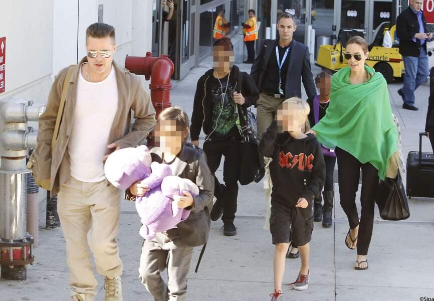 La famille Brangelina revient d'Australie pour un tournage d'Angelina
